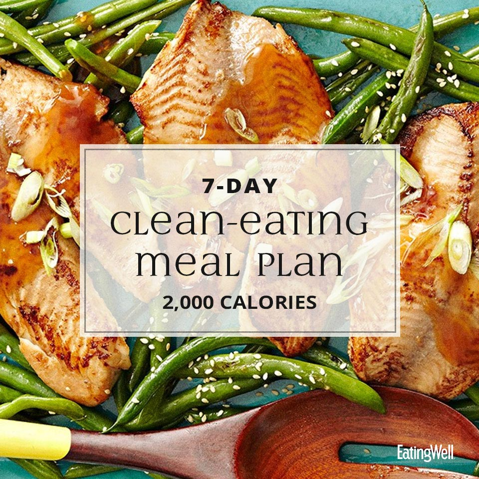 14-Day Clean-Eating Meal Plan: 2,000 Calories