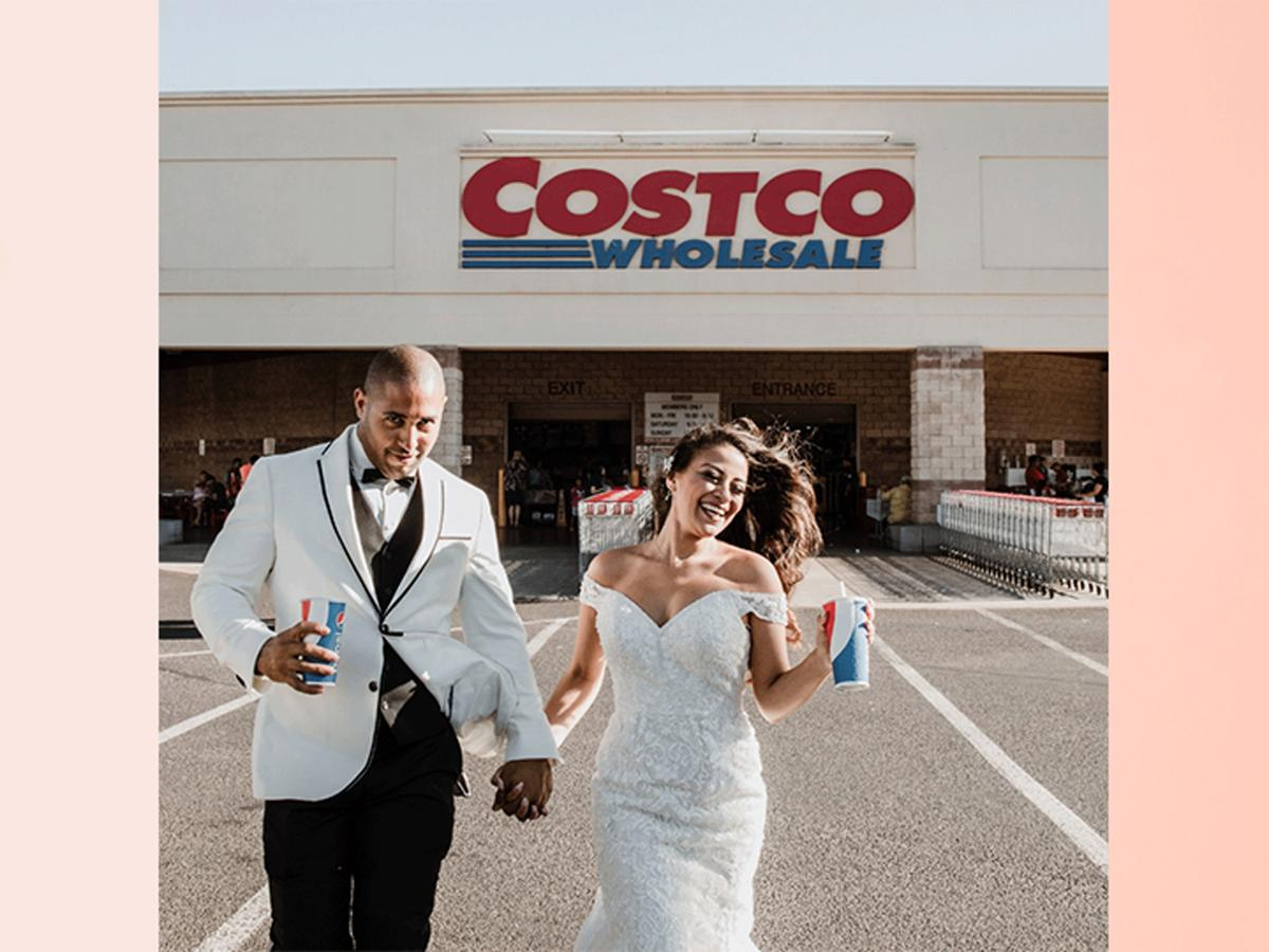 Couple in front of Costco