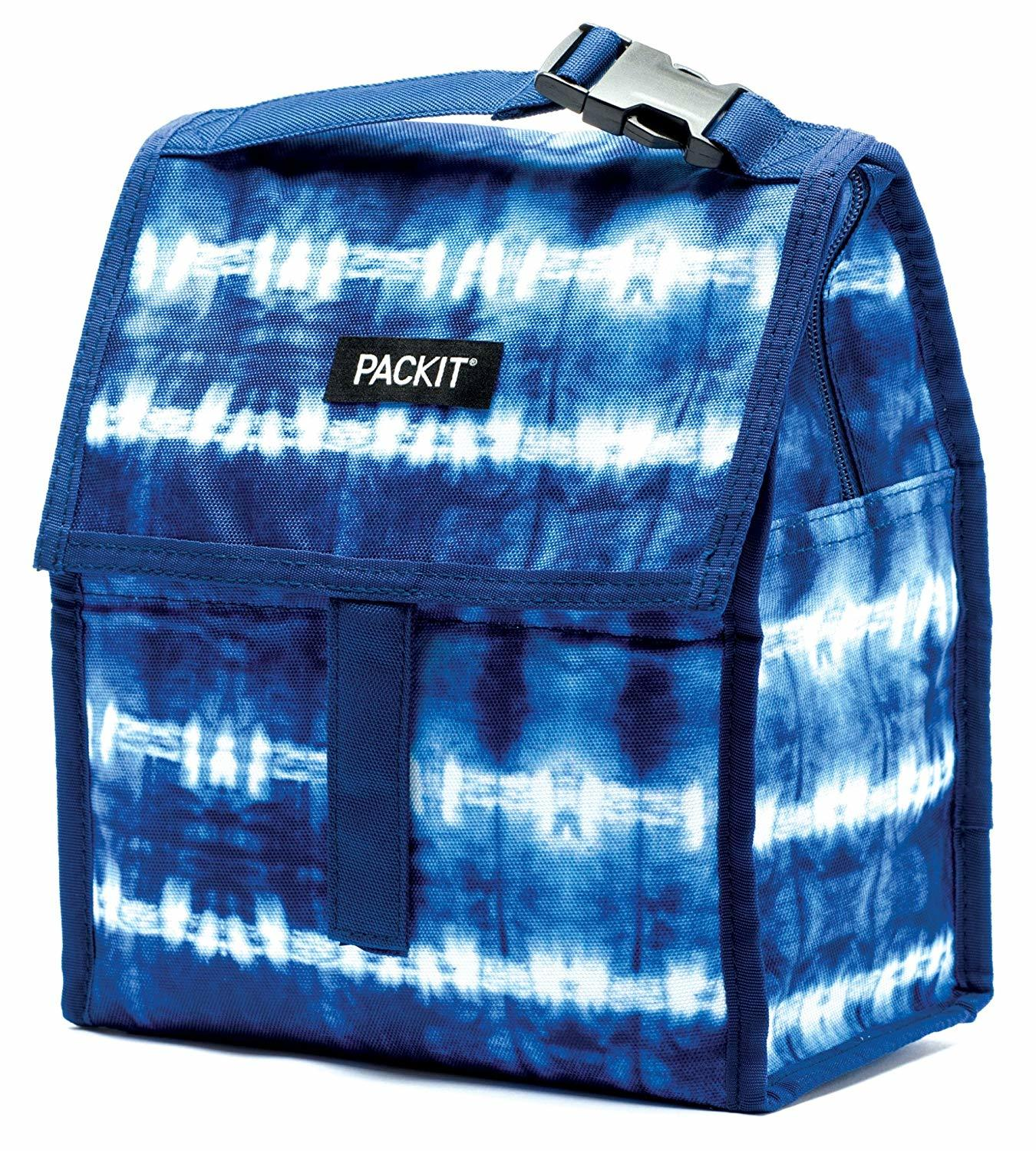 packit tie dye lunchbox on white background