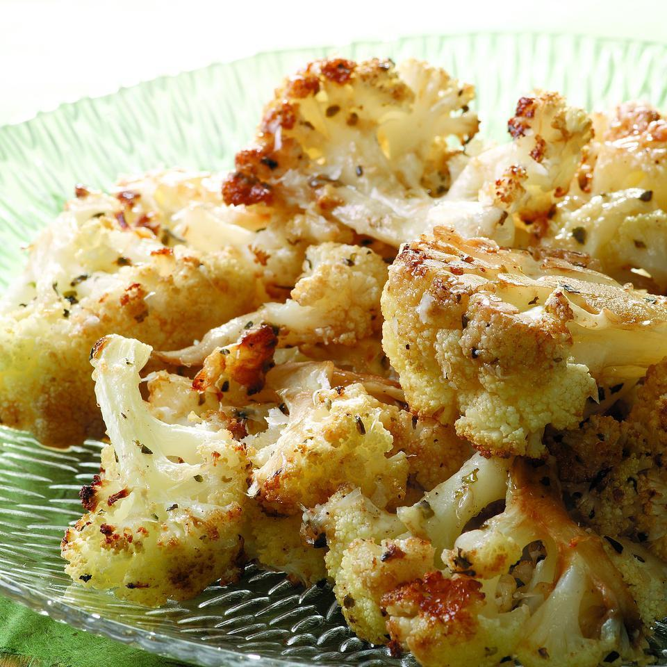 Balsamic & Parmesan Roasted Cauliflower