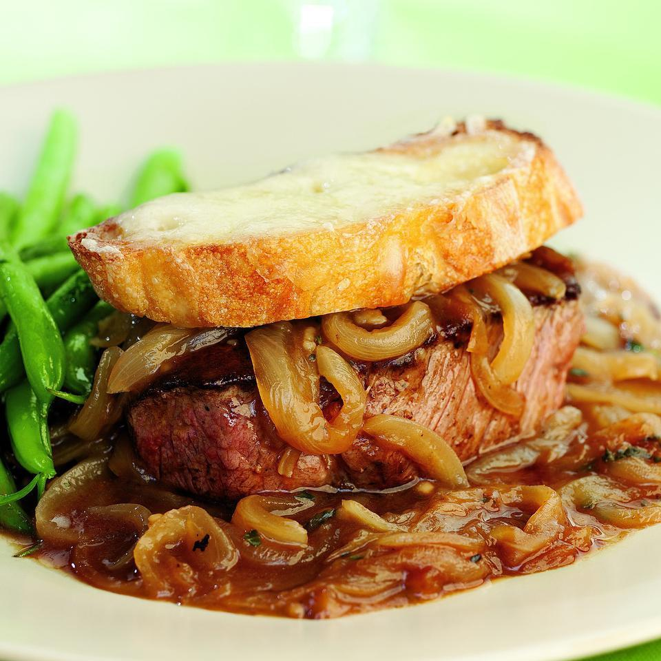 French Onion Beef Tenderloin for Two
