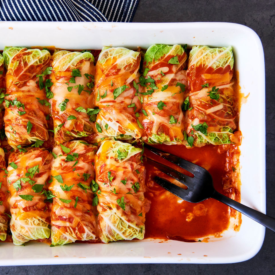 Cabbage Roll Chicken Enchiladas