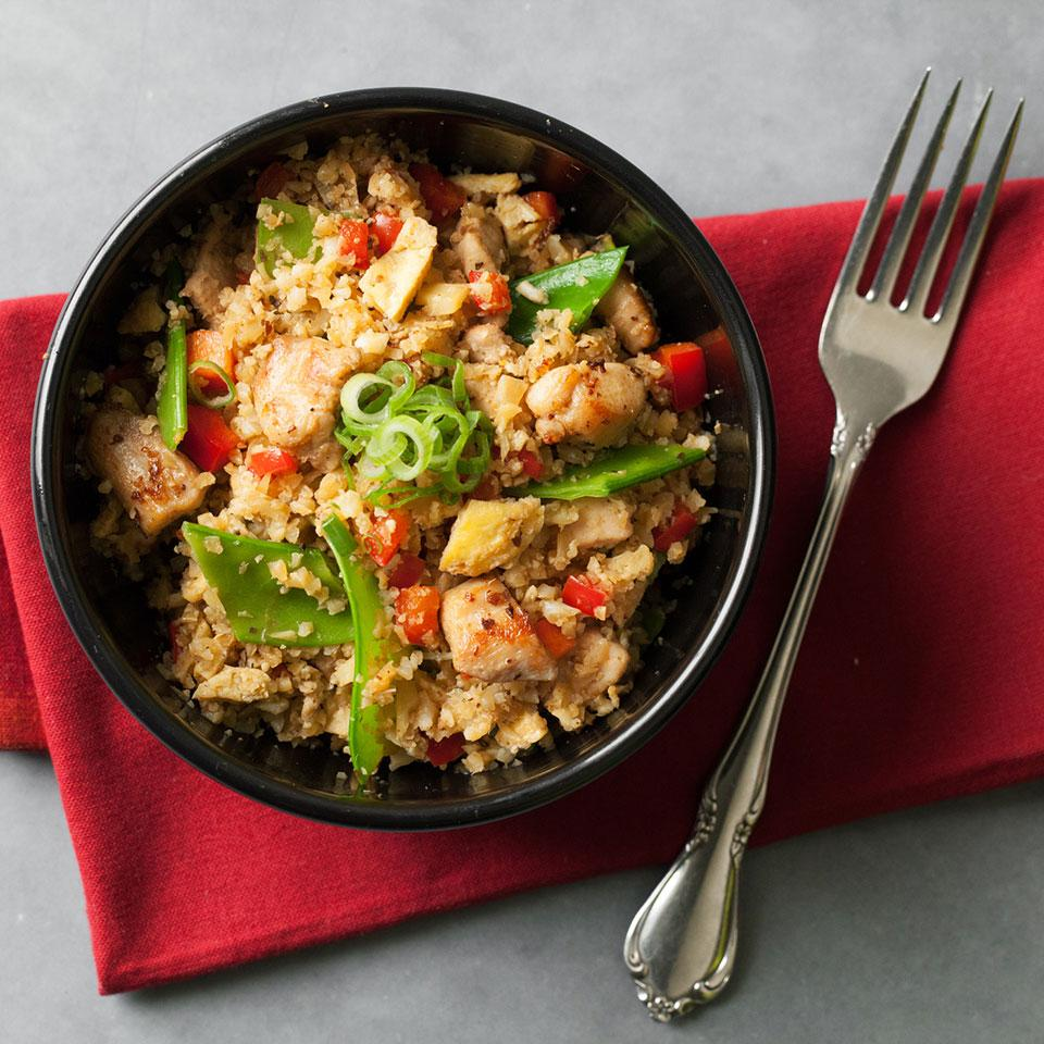 "Cauliflower Chicken Fried ""Rice"""