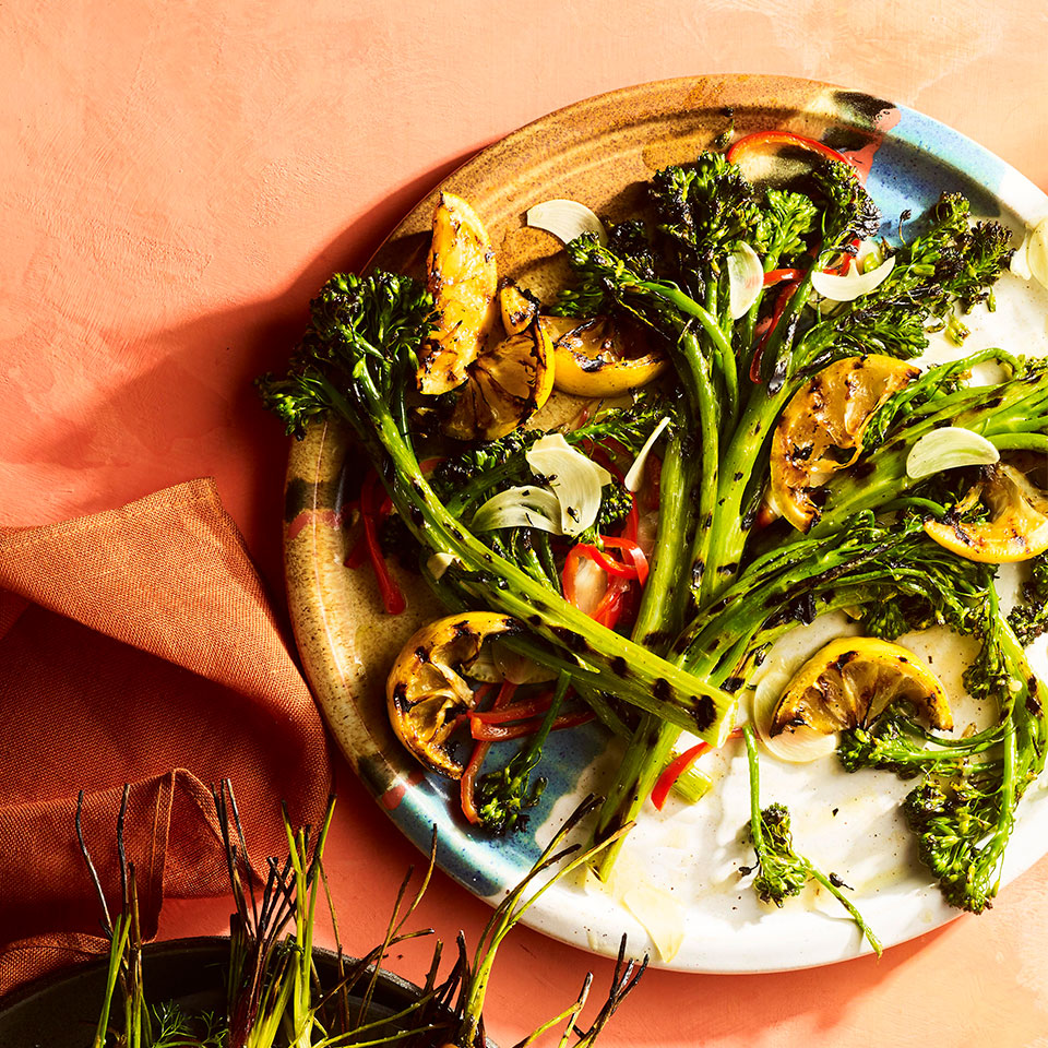 Grilled Broccolini with Garlic-Chile Oil