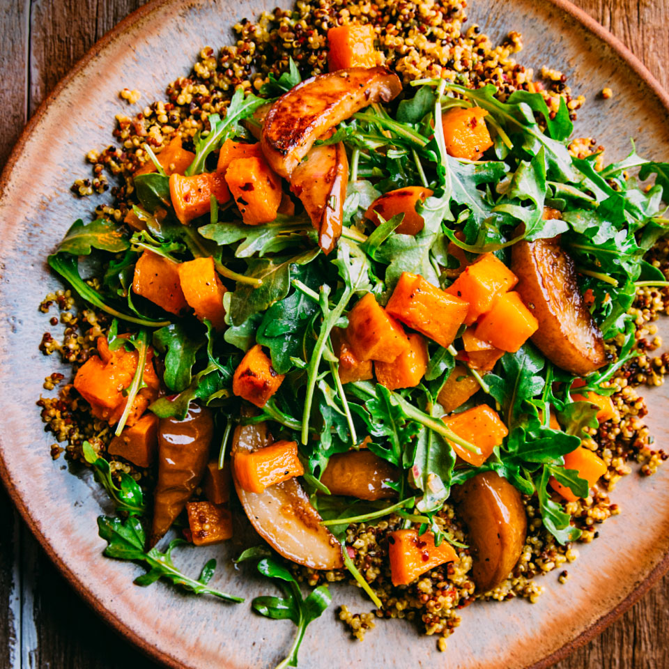 Roasted Butternut Squash & Pear Quinoa Salad