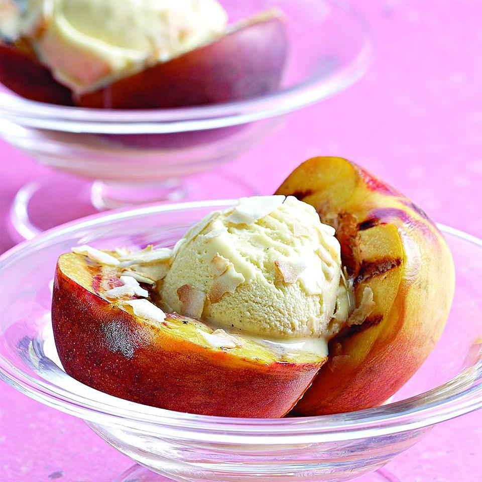 Grilled Peach Sundaes