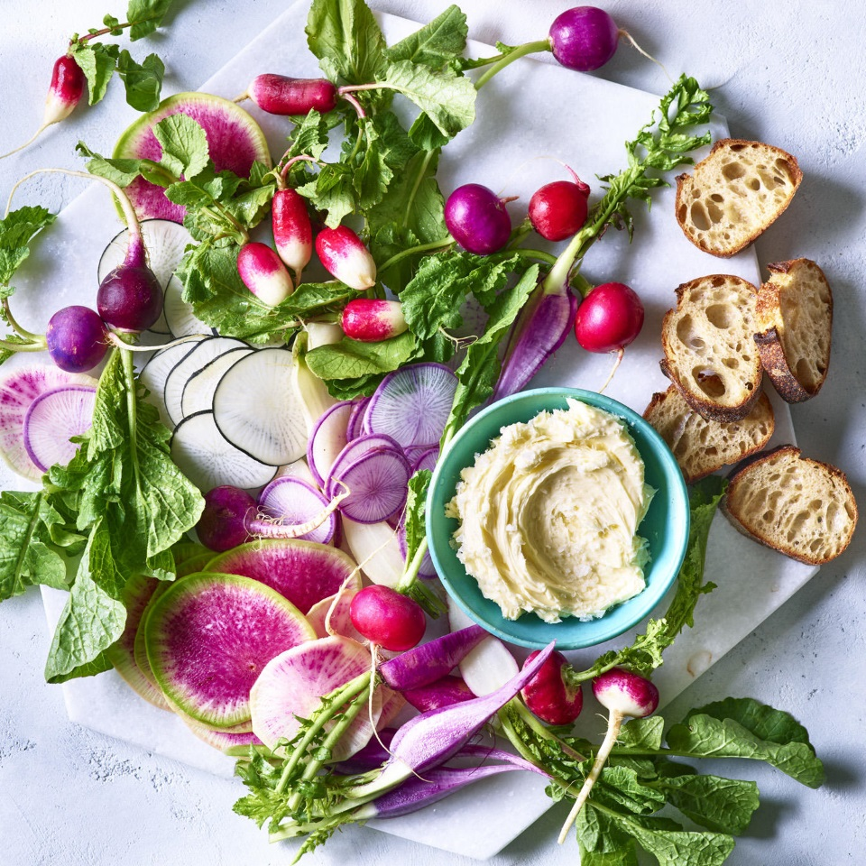 Radishes with Whipped Butter & Sea Salt