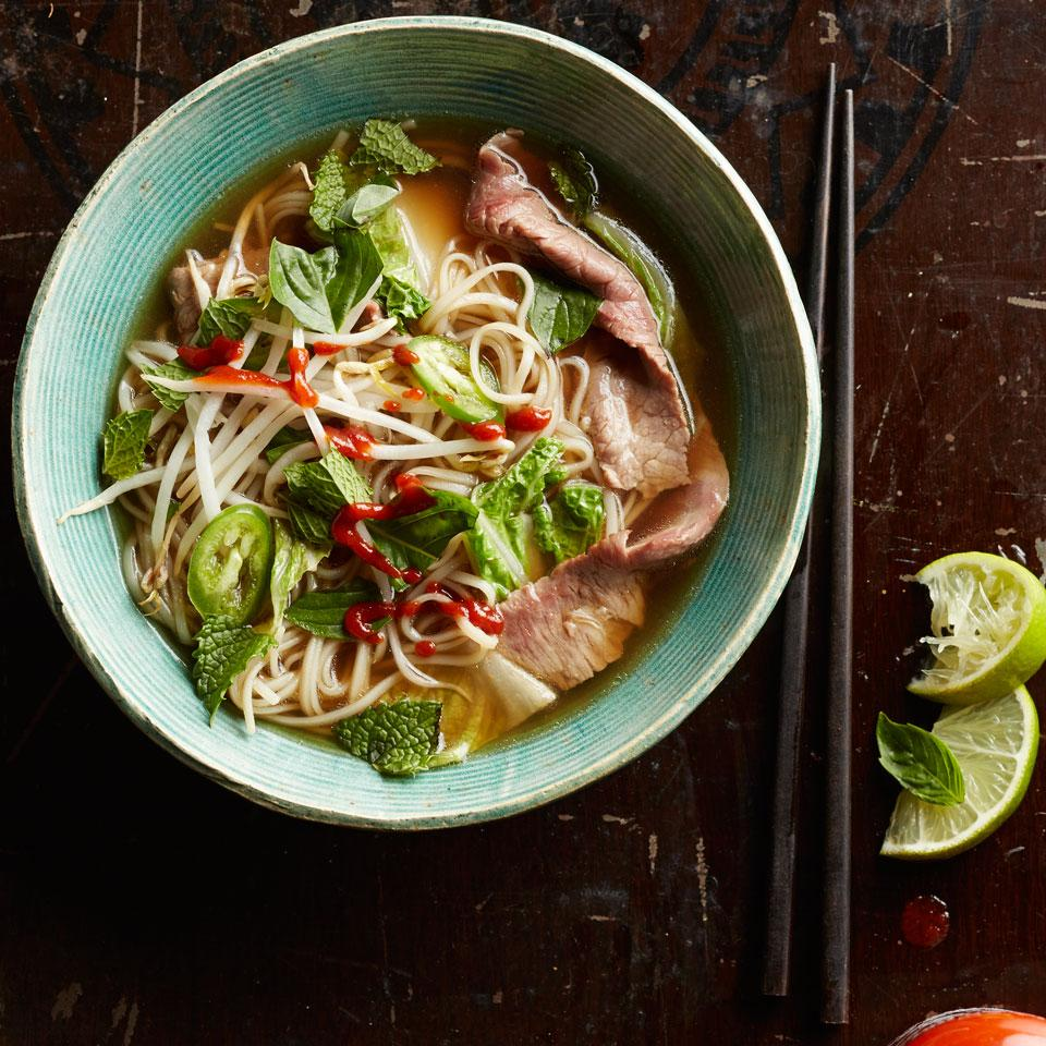 Quick Beef & Napa Cabbage Pho