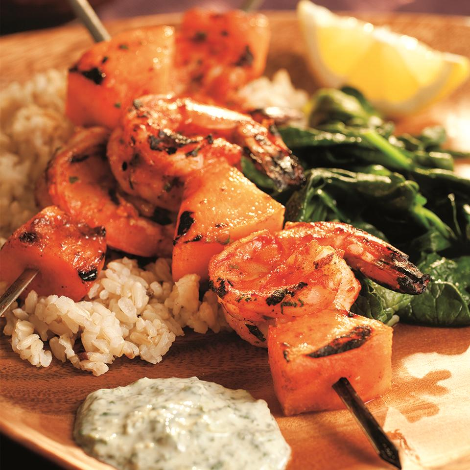 South Indian Shrimp Kebabs with Cilantro Sauce