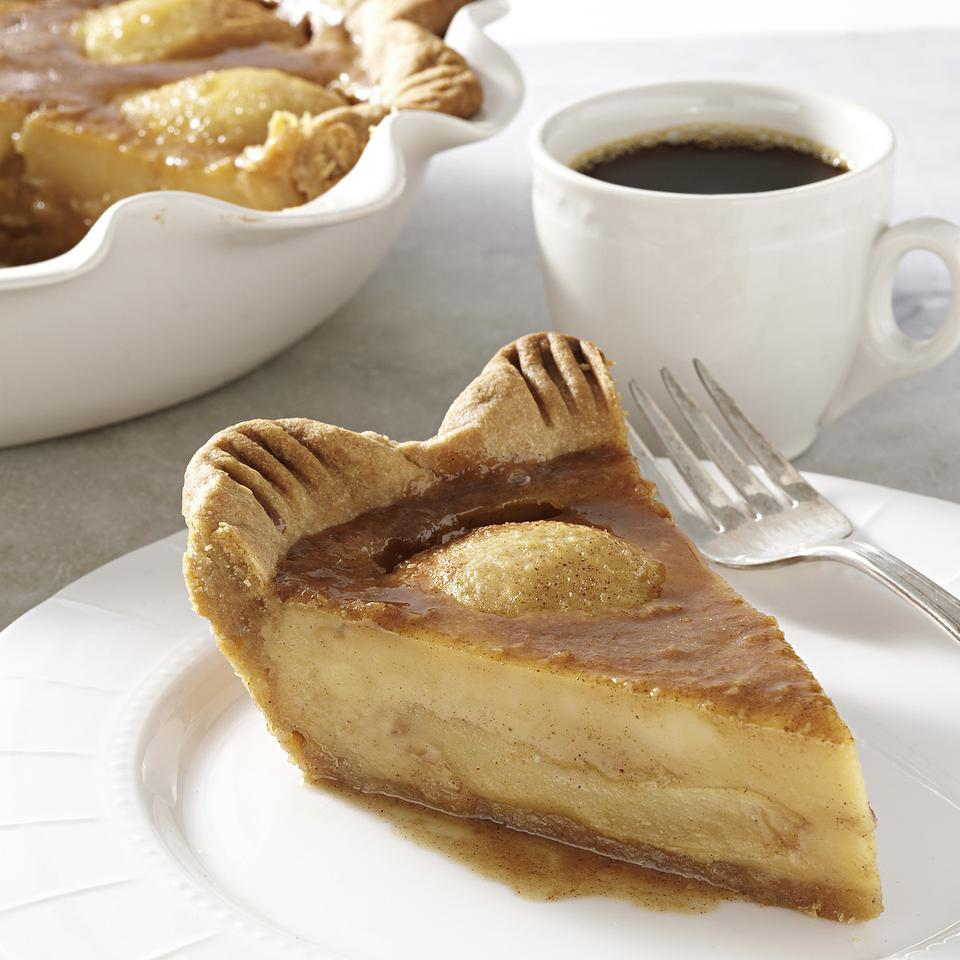 Caramelized Pear Custard Pie Recipe Eatingwell