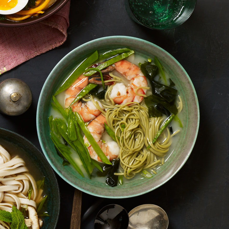 Miso Soup Cup of Noodles with Shrimp & Green Tea Soba