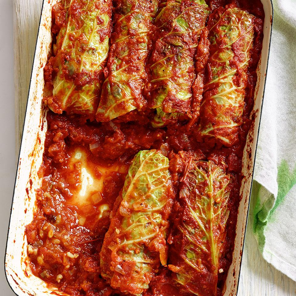 Vegetarian Stuffed Cabbage