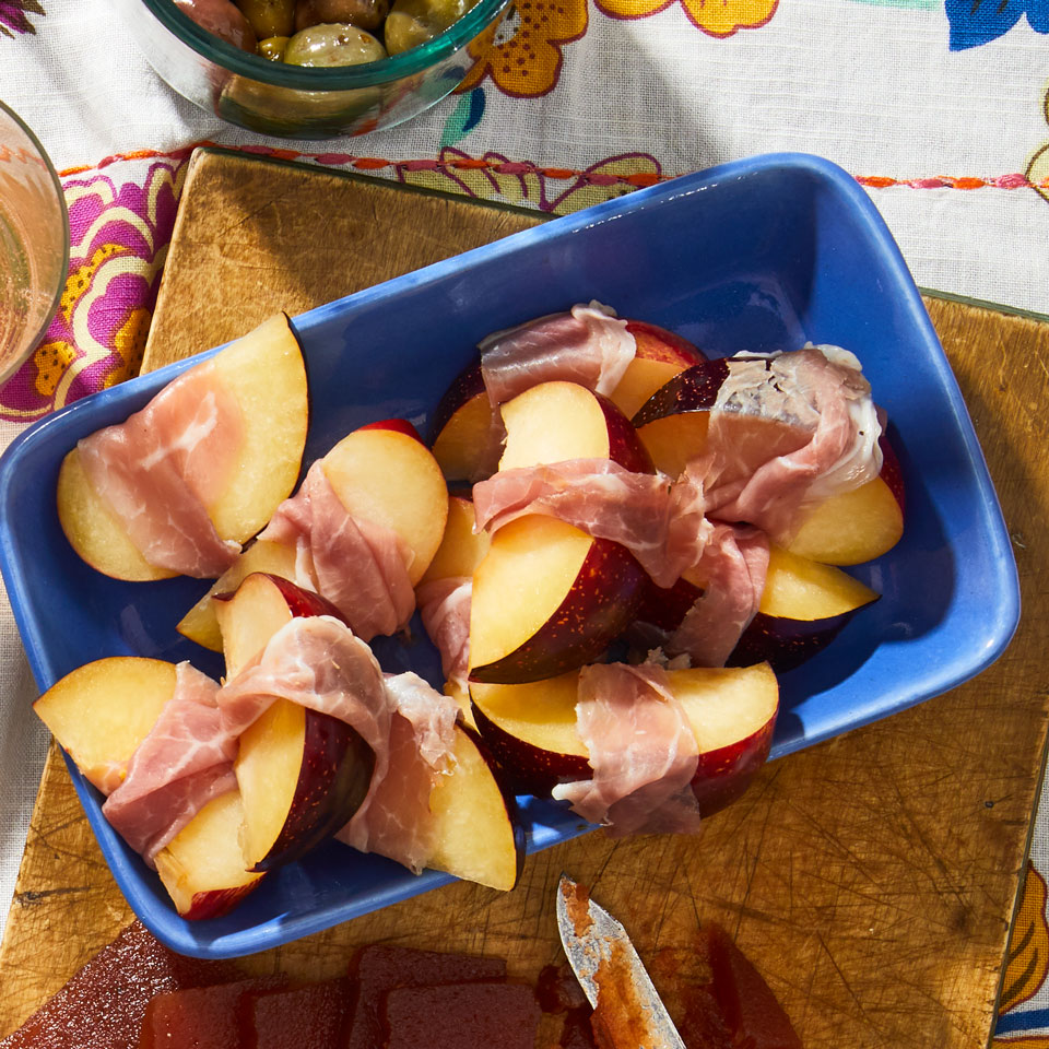 Serrano-Wrapped Plums