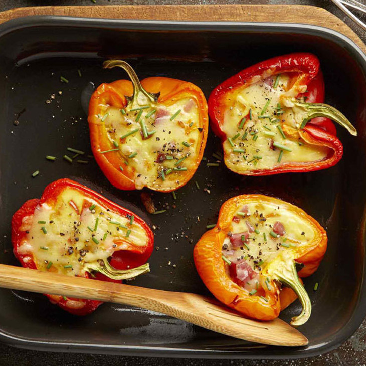 Cheesy Egg Stuffed Peppers