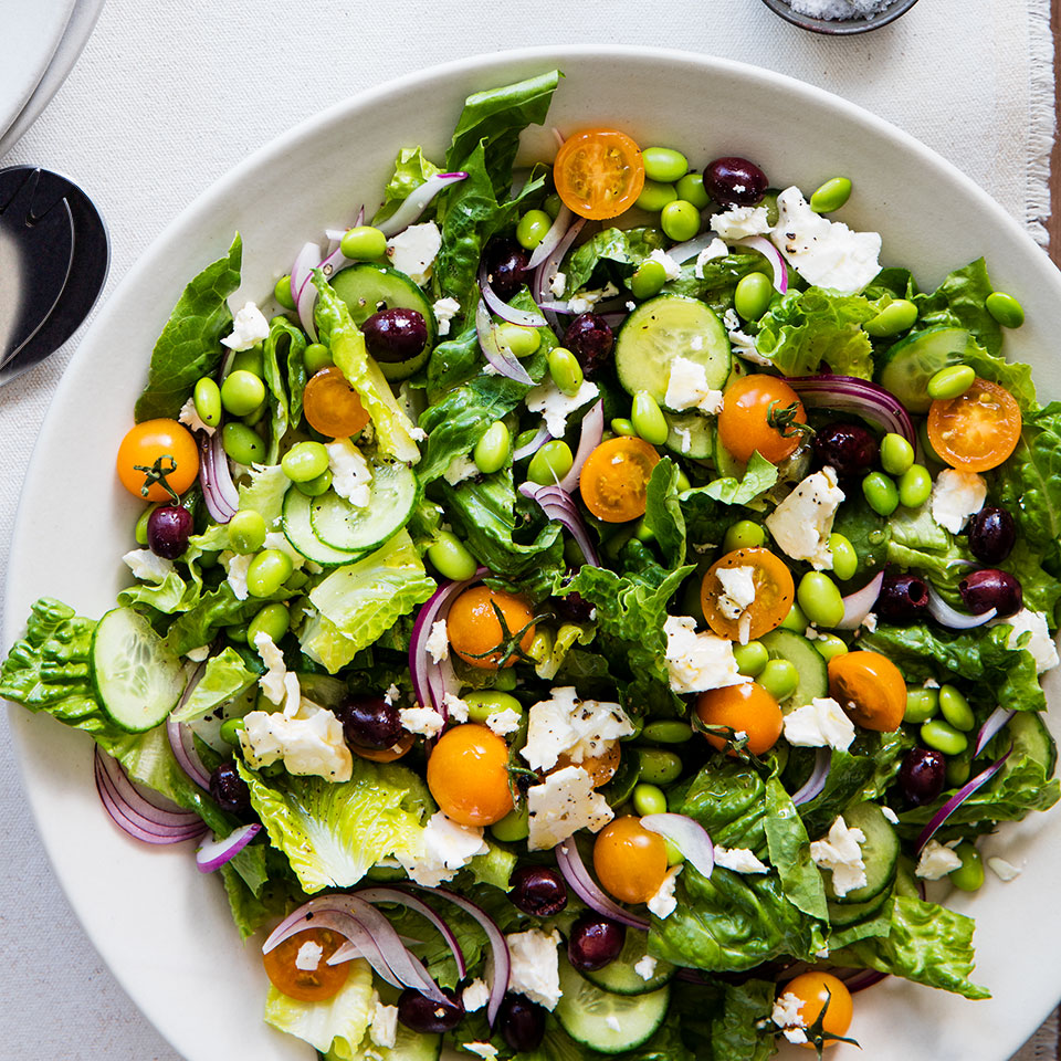 Greek Salad with Edamame