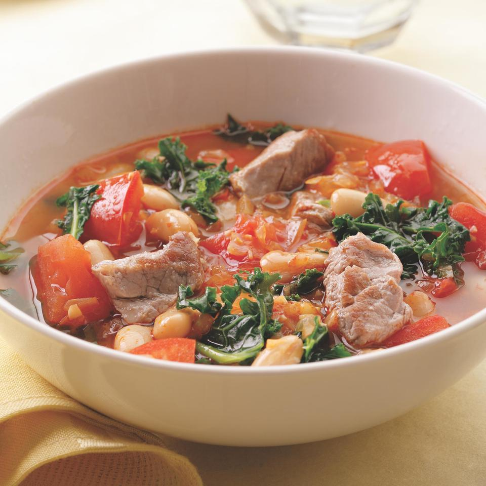 Pork, White Bean & Kale Soup