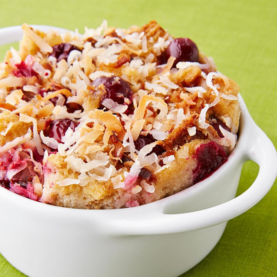 Cranberry-Coconut Bread Pudding