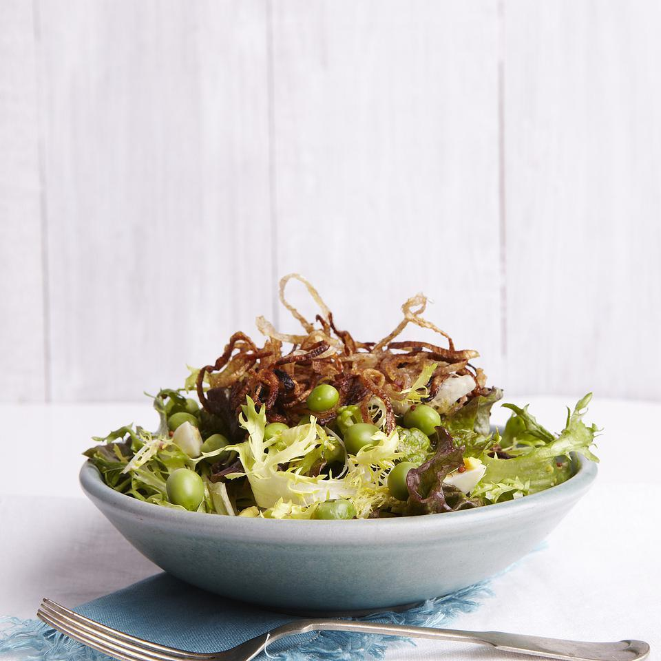 Spring Salad with Peas & Frizzled Shallots