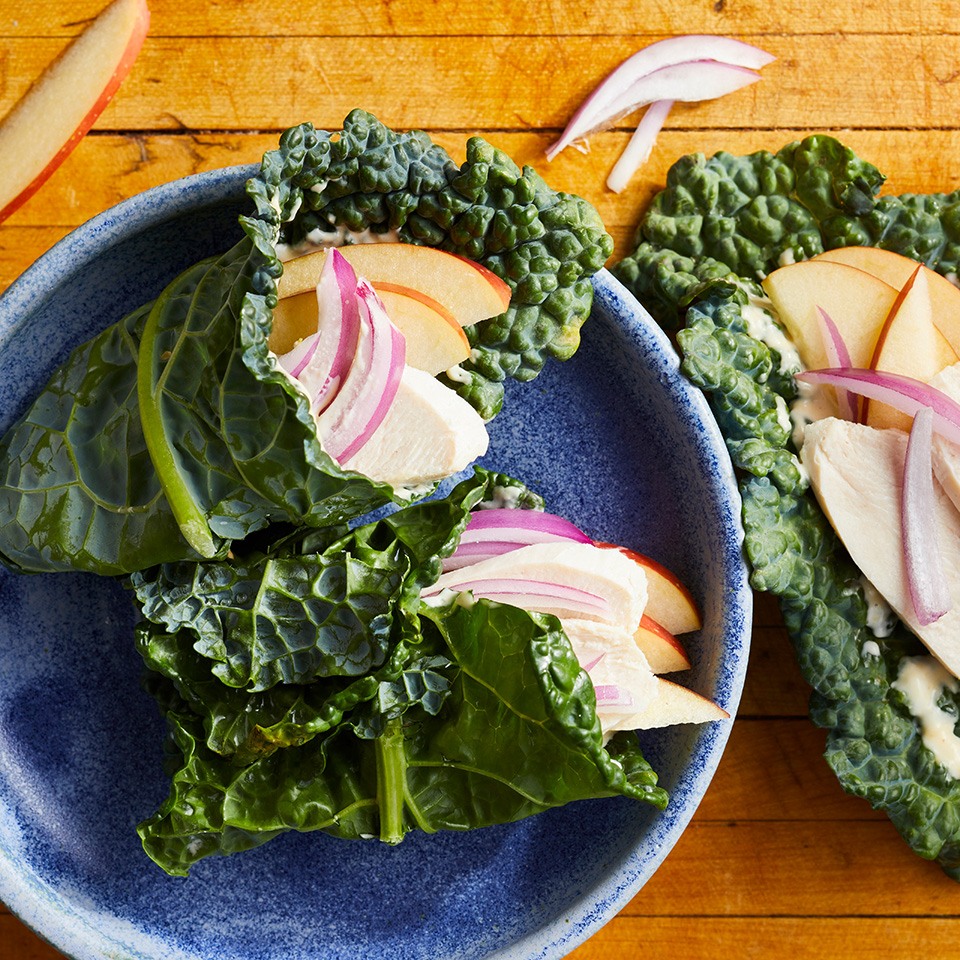 Chicken & Apple Kale Wraps
