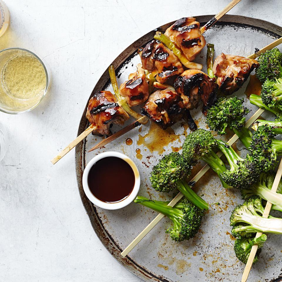Chicken Yakitori with Broccoli