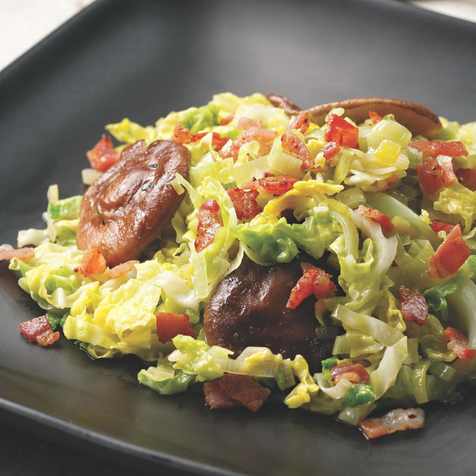 Skillet Cabbage with Bacon & Mushrooms
