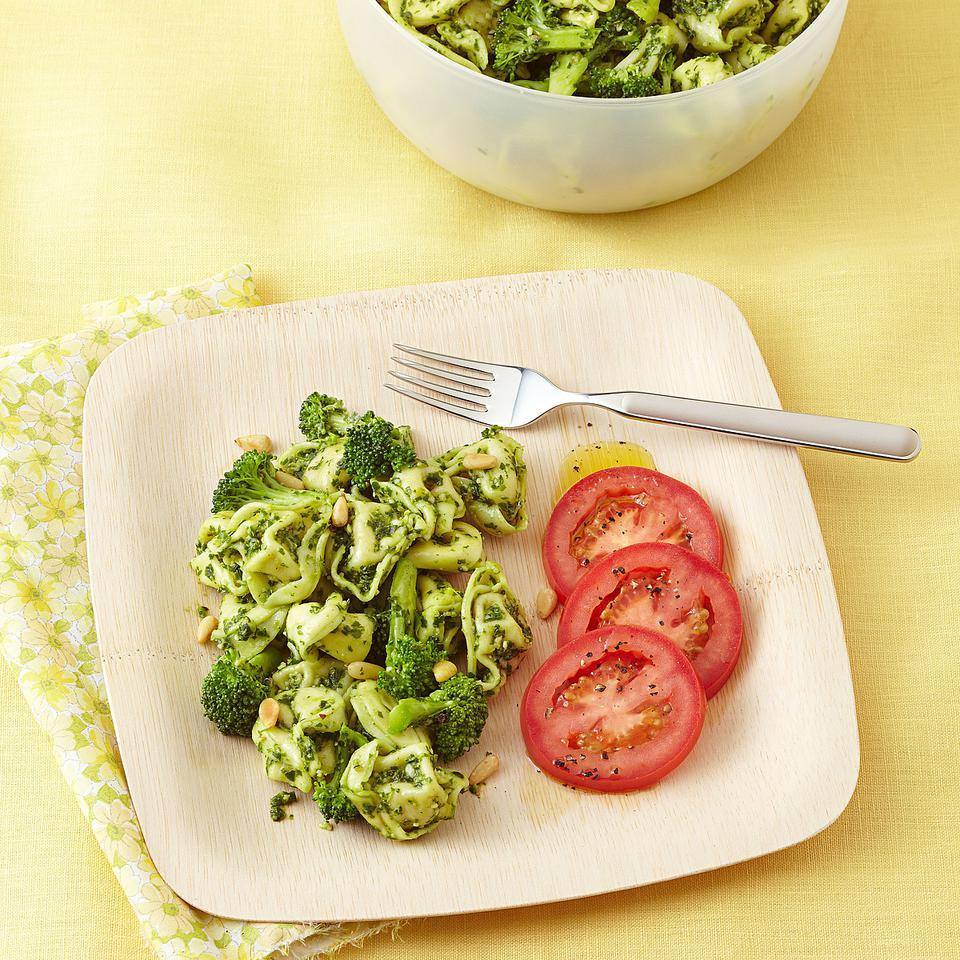 Broccoli & Tortellini Salad with Arugula Pesto