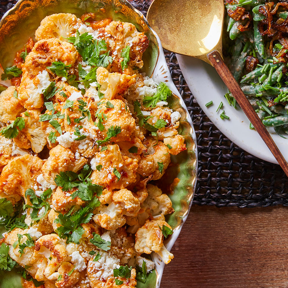 Roasted Cauliflower with Mojo Sauce