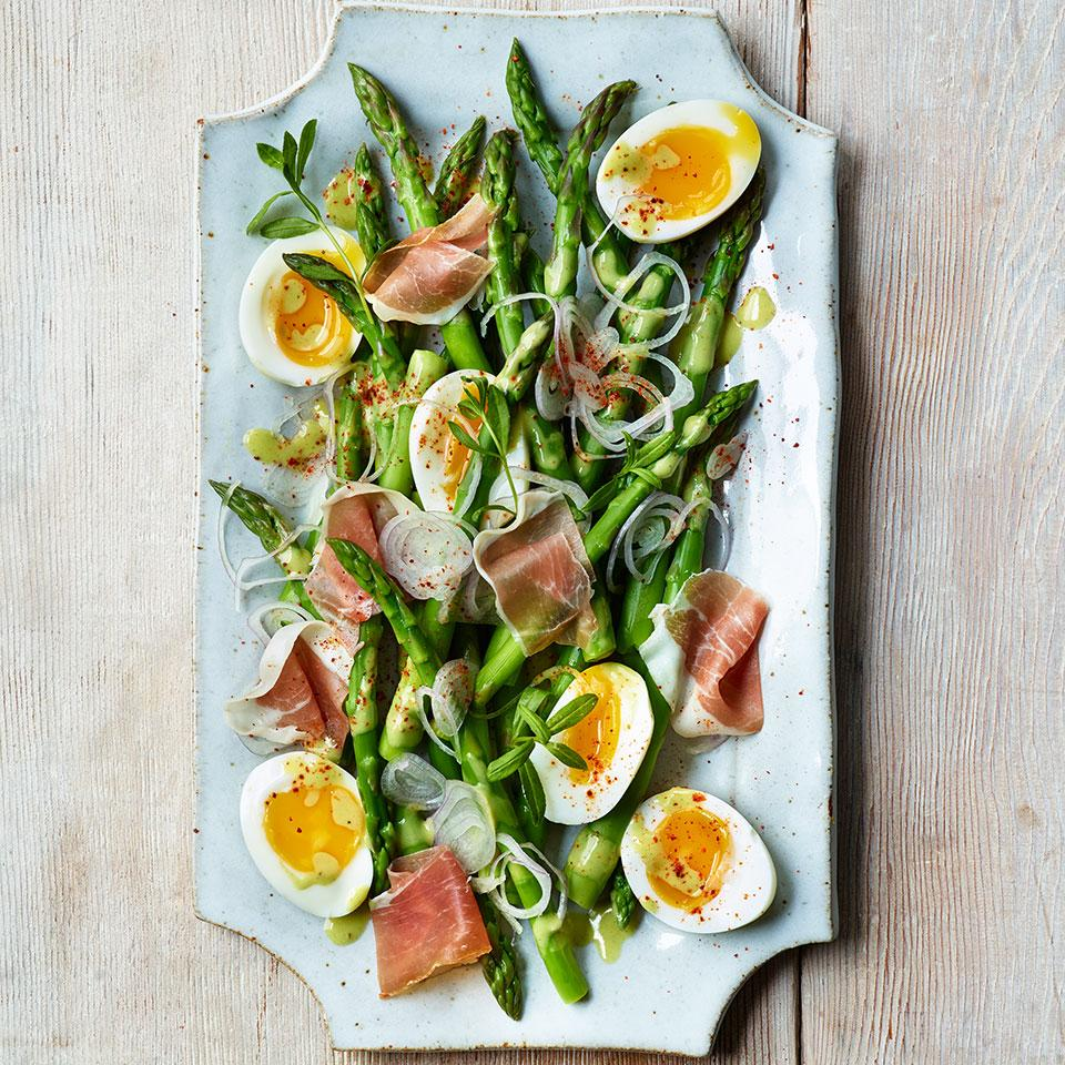 Asparagus Salad with Eggs & Jambon de Bayonne