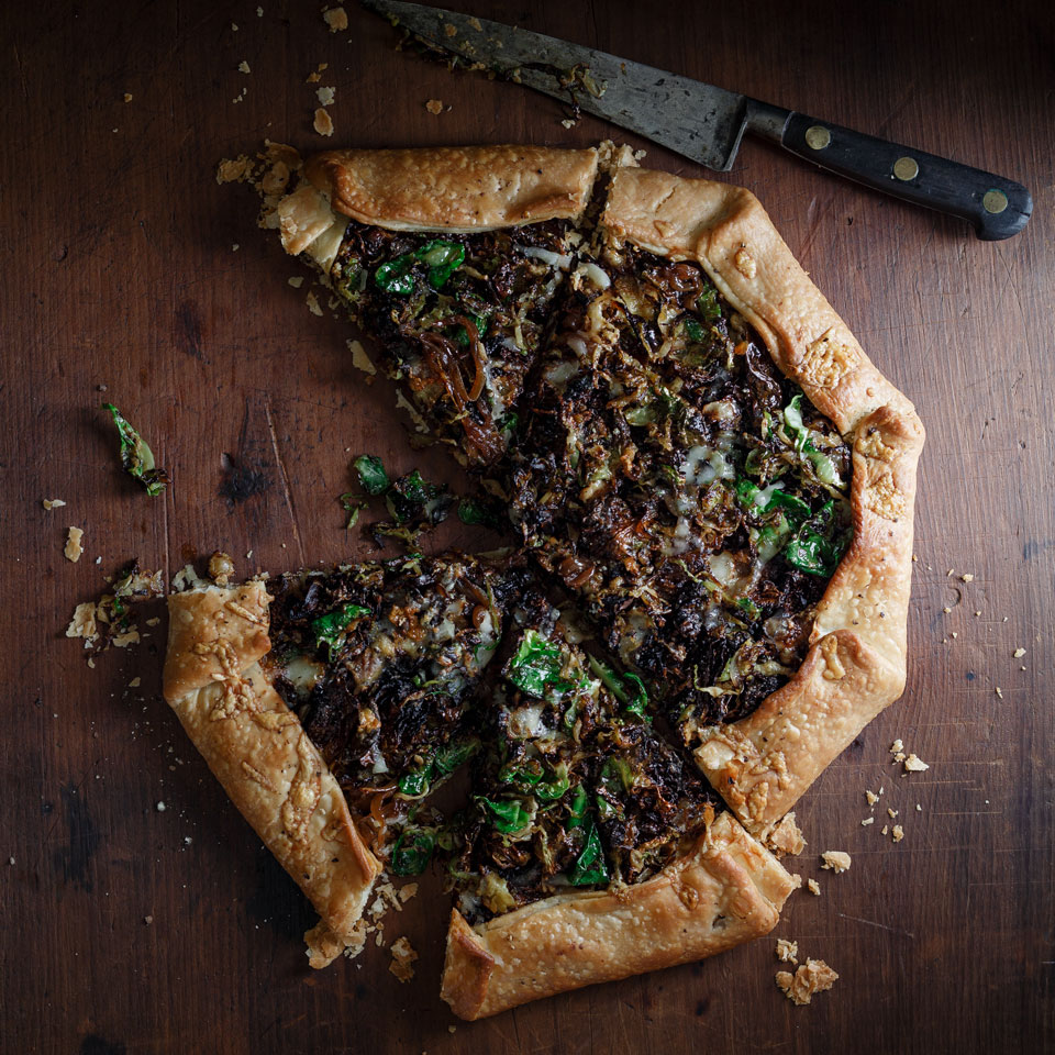 Caramelized Onion & Brussels Sprout Galette