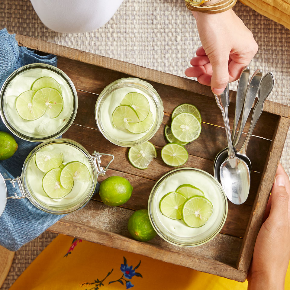 Key Lime Mason Jar Cheesecakes