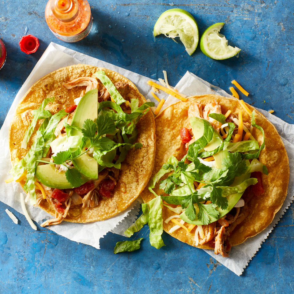 Pressure-Cooker Chicken Tacos