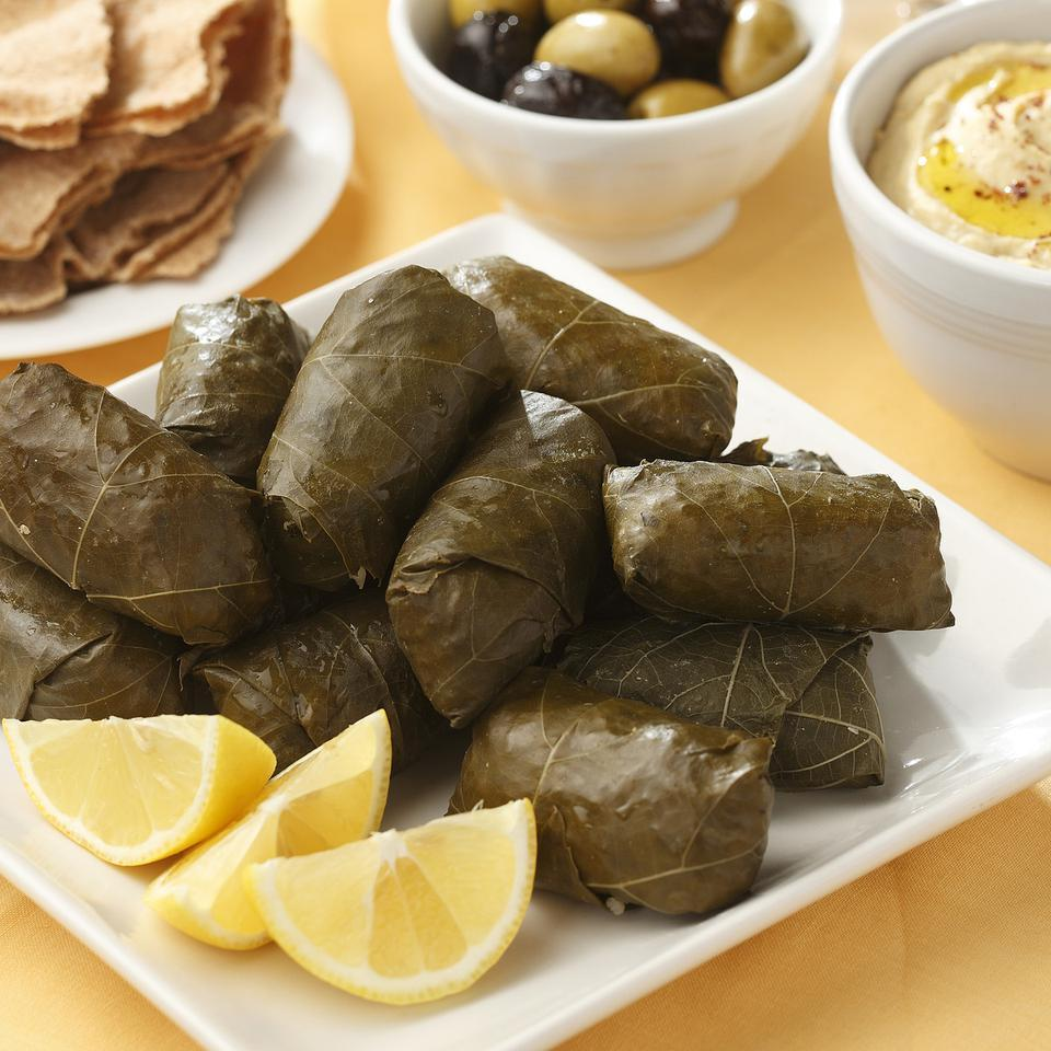 Lamb Rice Stuffed Grape Leaves Recipe Eatingwell