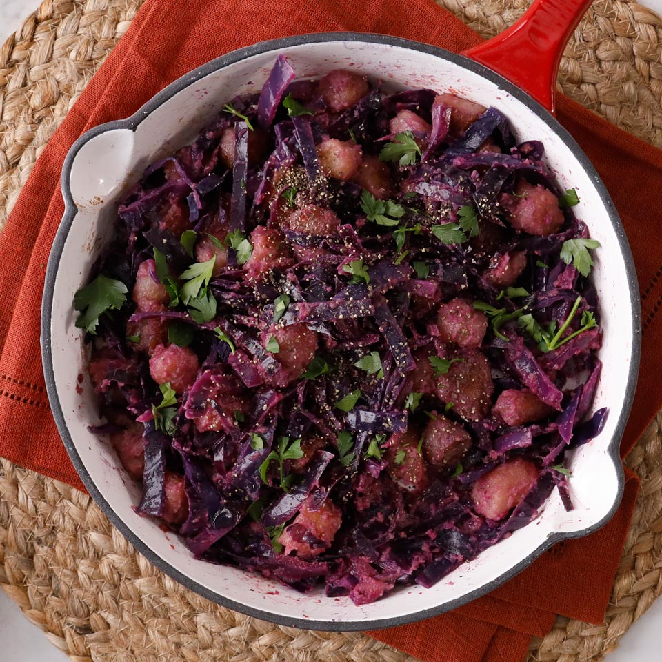 Red Cabbage-Apple Cauliflower Gnocchi