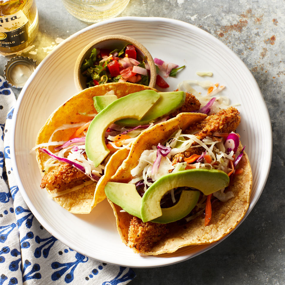 Crispy Oven-Fried Fish Tacos