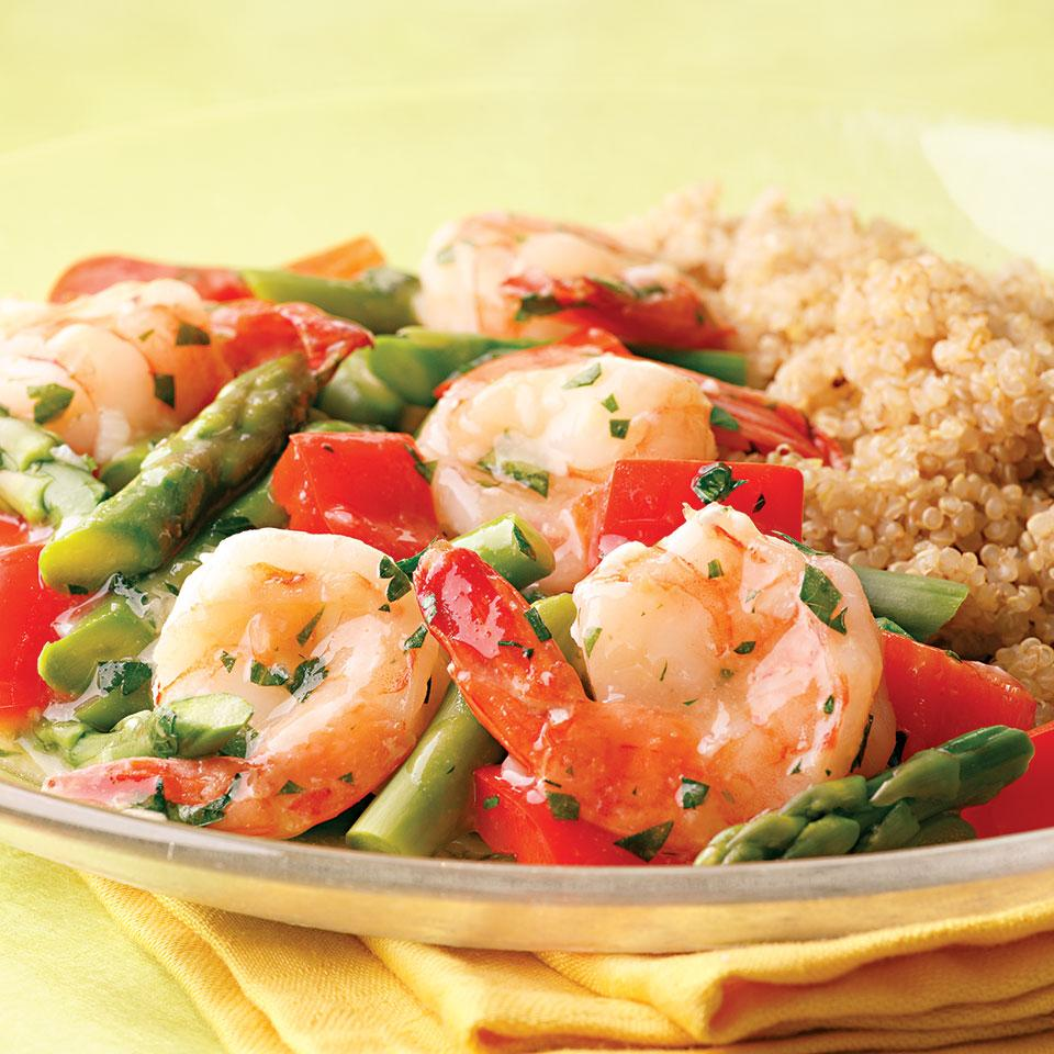 Lemon-Garlic Shrimp & Vegetables