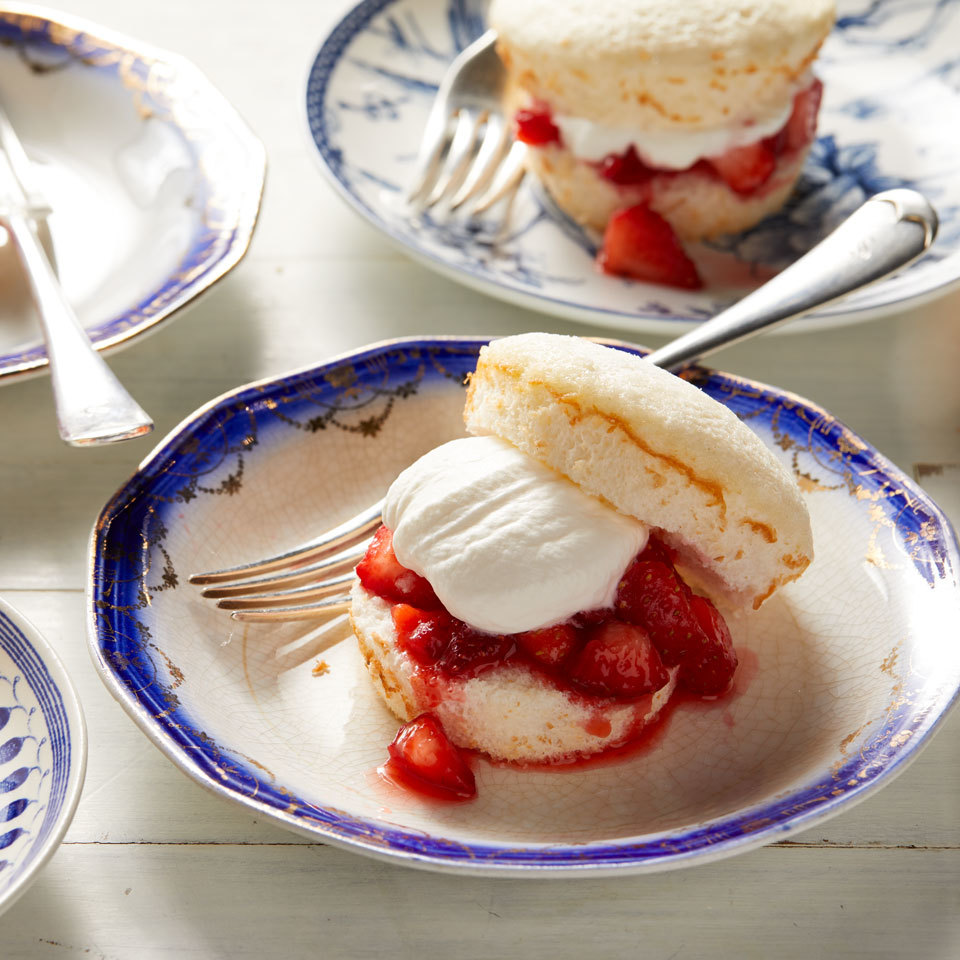 Mini Angel Food Strawberry Shortcakes