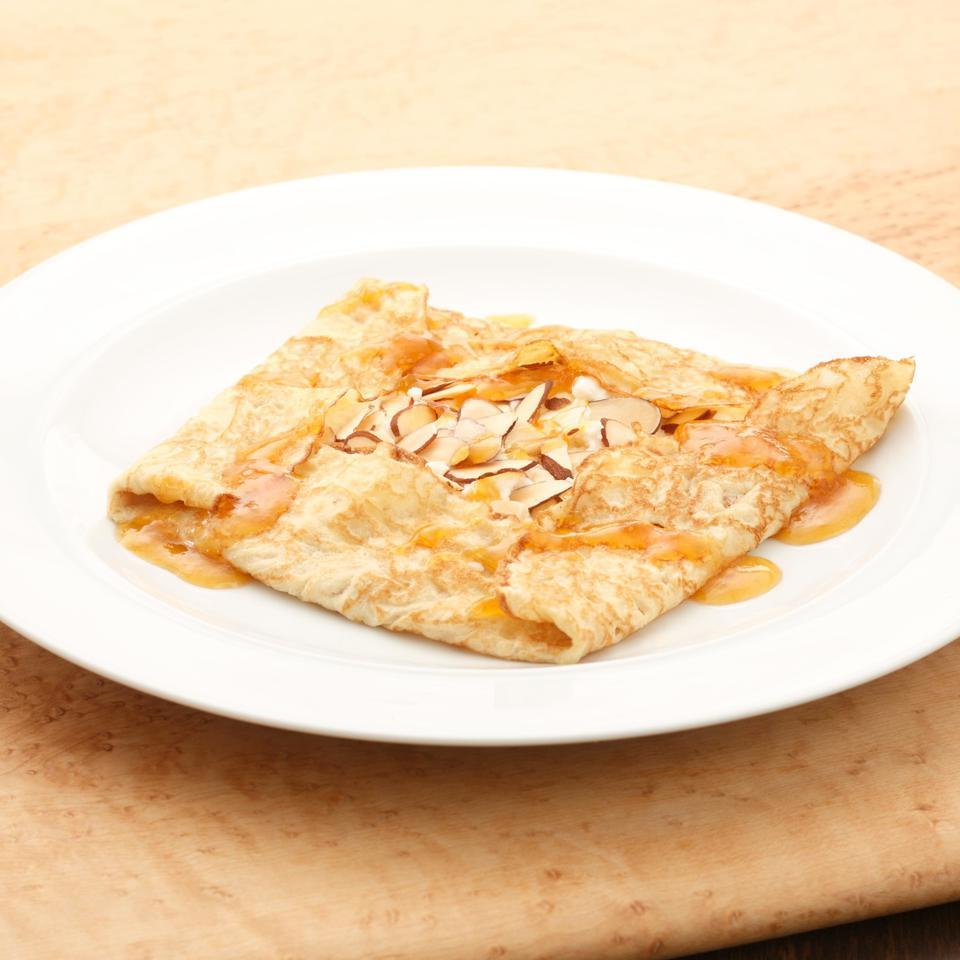 Sweetened Ricotta & Apricot Crepes