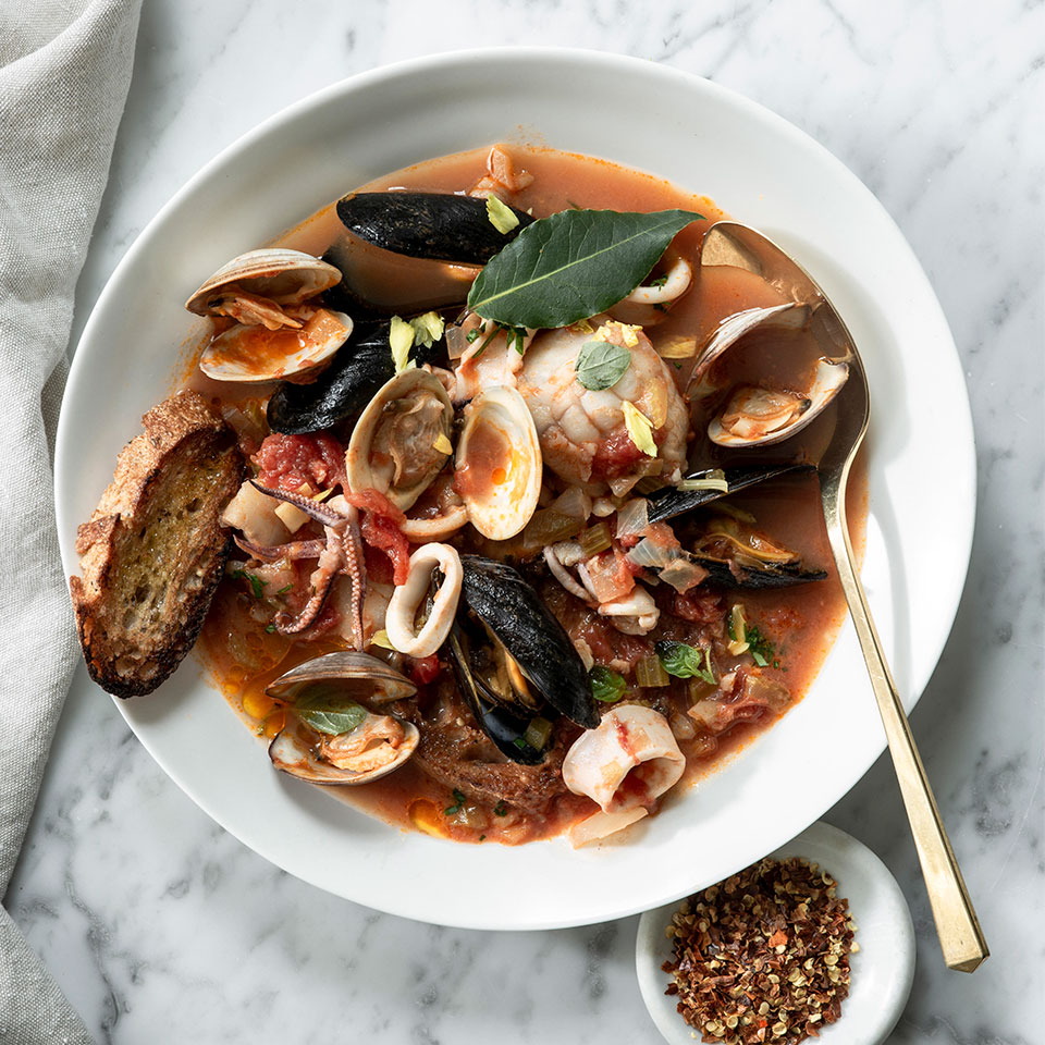 Brodetto di Pesce (Adriatic-Style Seafood Stew)