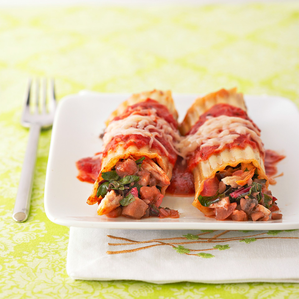 Chicken and Mushroom Manicotti