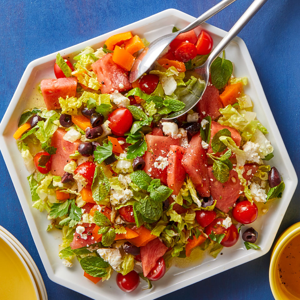 Greek Tomato & Watermelon Feta Salad