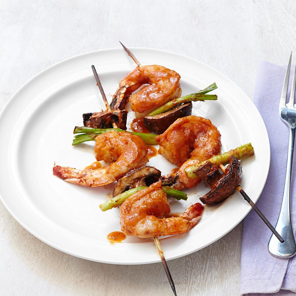 Shrimp Kebabs with Curry-Coconut Glaze