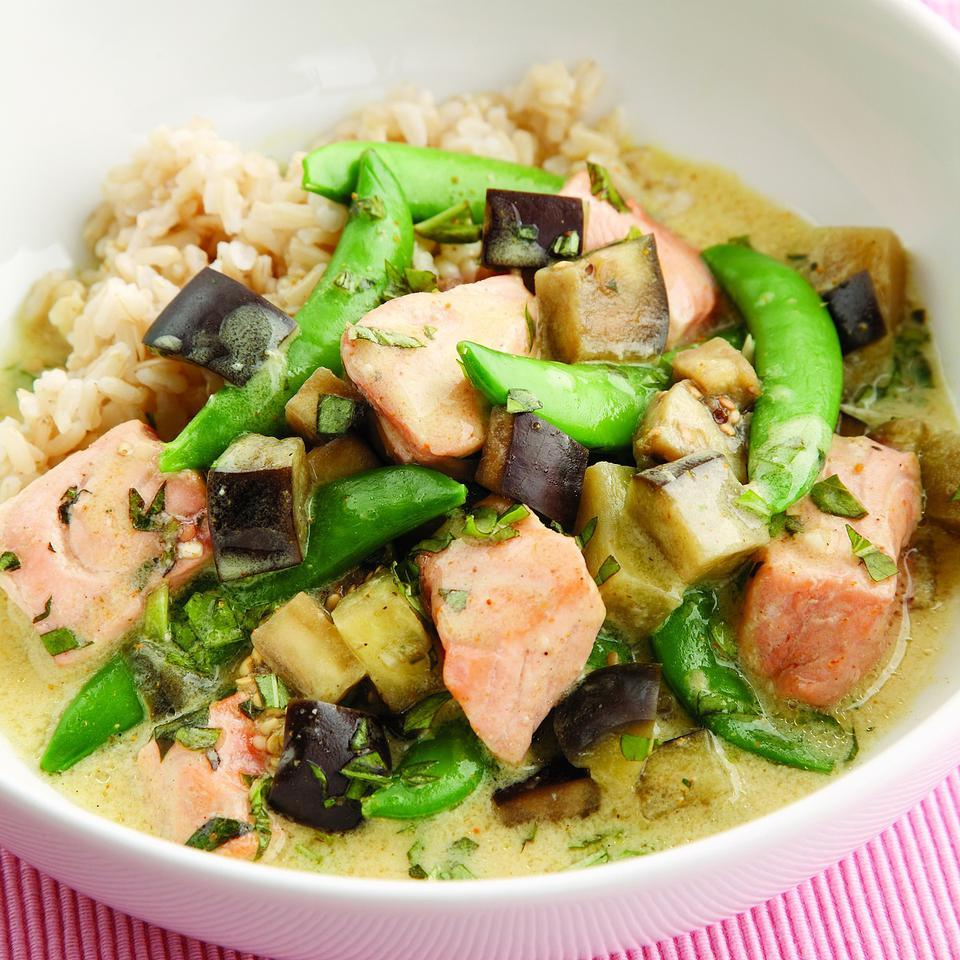 Salmon & Eggplant Curry