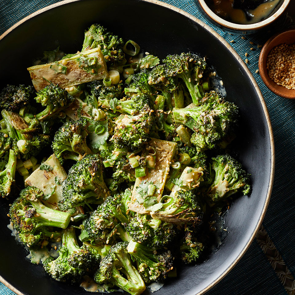 Roasted Broccoli with Garlicky Tahini Sauce