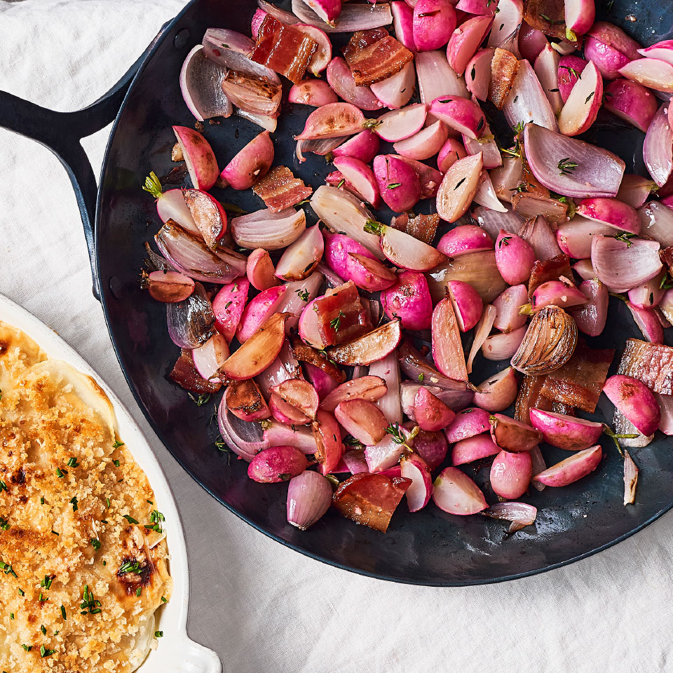 Sautéed Radishes with Bacon