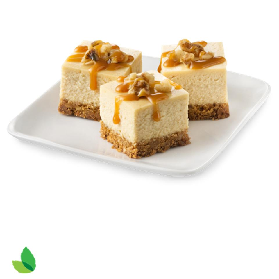 Reduced-Sugar Caramel Cheesecake Bites