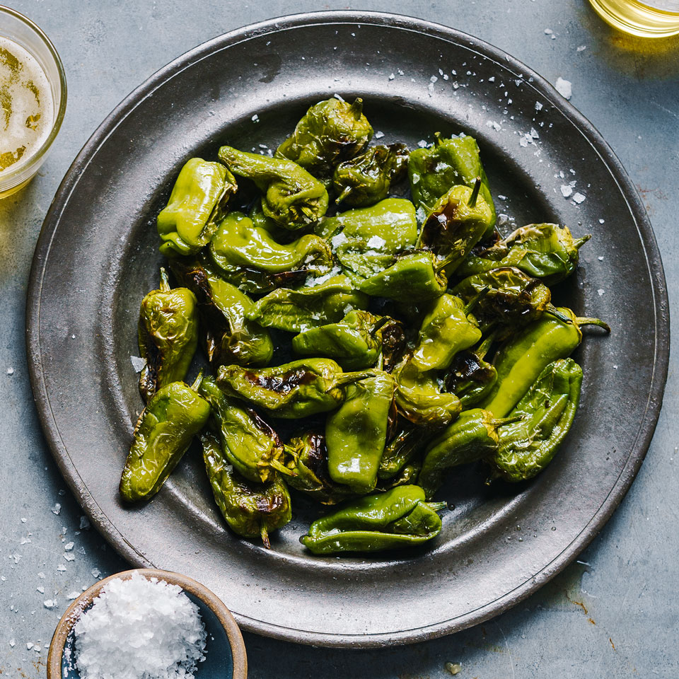 Grilled Padrón Peppers with Sherry