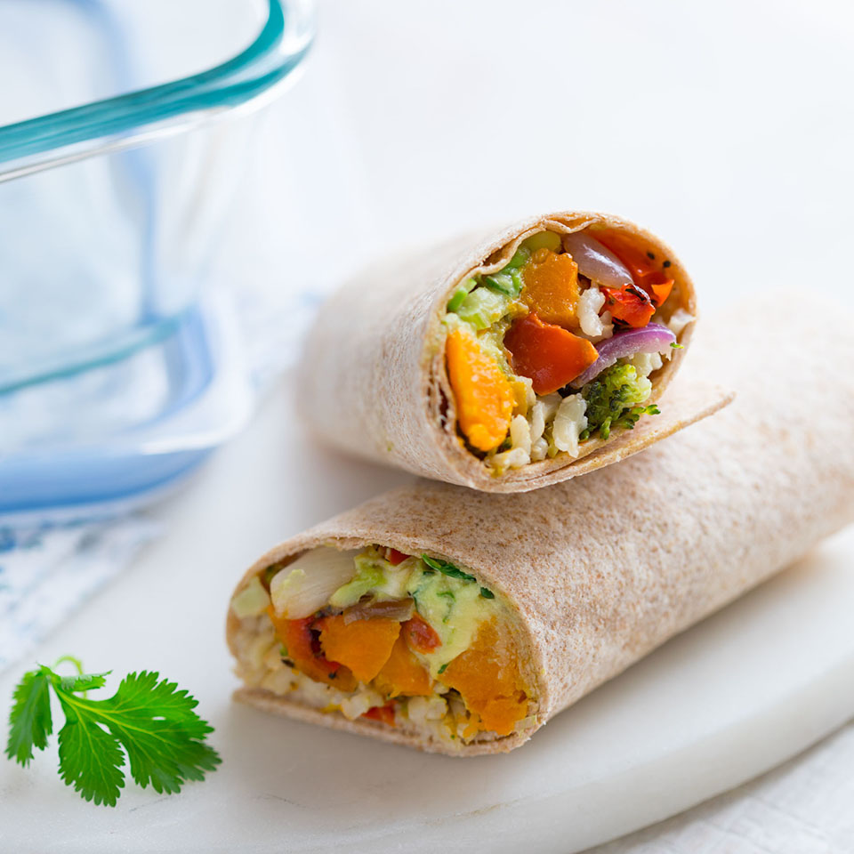 Easy Brown Rice & Veggie Wrap