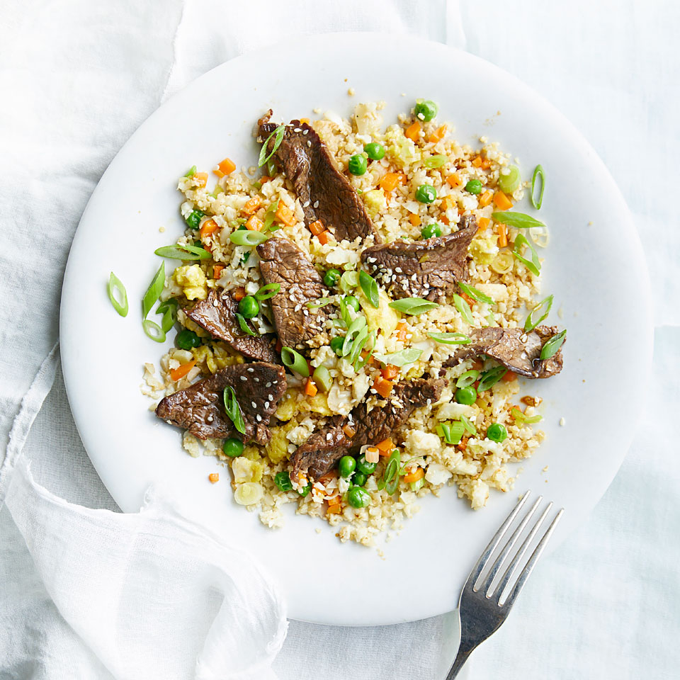 Cauliflower Fried Rice with Steak