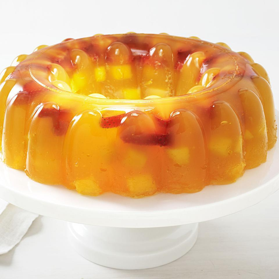 Mango-Strawberry Jello