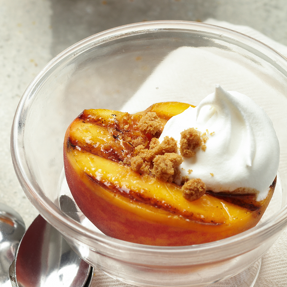 Grilled Peaches with Honey-Balsamic Syrup